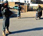 AFGHANISTAN KANDAHAR POLICE CHECKPOINT