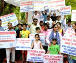 Aggrieved investors of residential and commercial projects near Dwarka Expressway demonstrate at Jantar Mantar