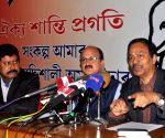 Kamala Kalita addresses a press conference at AGP Headquarters