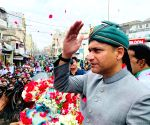 Akbaruddin Owaisi during door-to-door campaign for GHMC elections