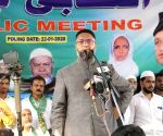 Asaduddin Owaisi launches AIMIM's election campaign for Telangana Municipal polls