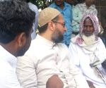 Asaduddin Owaisi during election campaign