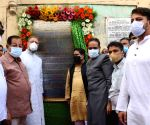 AIMIM supremo and MP Asaduddin Owaisi  Inaugurated  Replacement of Drainage line  Charminar and Macca masjid water sewerage line and beautification of new Fountains in Hyderabad.