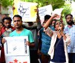 AISA demonstration against Gorakhpur deaths