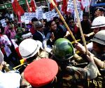 AISF demonstration against BSSC paper leak