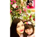 Aishwarya posts anniversary celebration pic, with Abhishek on video call