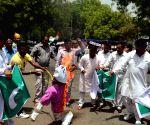 Akhil Bhartiya Balmiki Mahapanchayat at a protest rally against Pakistan