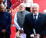 Ram Nath Kovind, Narendra Modi receives Alexander Lukashenko, President of Belarus