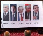 ALGERIA ALGIERS PRESIDENTIAL ELECTION RESULT
