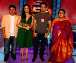 Ali Asgar, Vishal and Shubha Mudgal on location of Amul Star Voice of India at Film City.