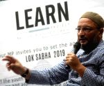Asaduddin Owaisi interacts with students