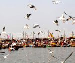 Devotees at Sangam