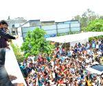 Allu Arjun's birthday celebration at Geetha Arts Office