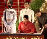 Smriti Irani takes oath as Union Minister