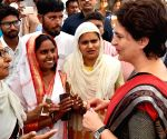 Priyanka meets party, BSP and JAP leaders in Amethi