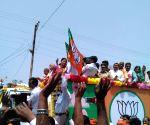 Amethi (UP):2019 Lok Sabha elections -  Smriti Irani holds a roadshow ahead of filing nomination