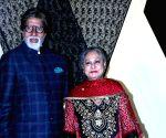 Amitabh Bachchan and Abhishek Bachchan wishes happy birthday Jaya Bachchan