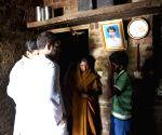 Rahul Gandhi interacts with people during his Vidarbha padyatra