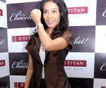 Amrita Rao at Titan Raga Chocolat watches launch.