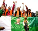 Shiv Sena Samajwadi protest against failed boat infiltration of Pakistan