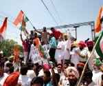 Congress demonstration at Amritsar railway station