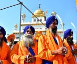 Procession at Golden Temple on the eve of Guru Nanak Jayanti