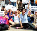 Students demonstrate against PSEB