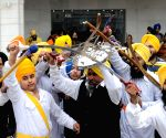 A religious procession on the eve of birth anniversary of 10th Sikh Guru Gobind Singh Ji
