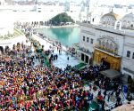 Sikhs pay obeisance at Golden Temple