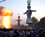 210-ft tall Ravana effigy goes up in flames