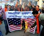 Protest against racial slur - Shiv Sena Samajwadi