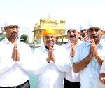 Thawar Chand Gehlot at Golden Temple