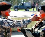 BSF Women officers celebrate Holi