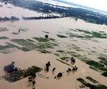 Bettiah (Bihar): Nitish conducts an aerial survey of flood affected areas