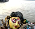 Durga idol immersion at river Ganga