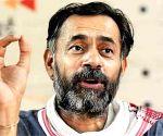 SKM suspends Yogendra Yadav for a month