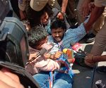NSUI activists detained during protest