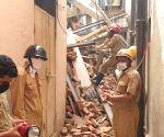 Under-construction building at Sitaram Bazar in Hauz Qazi area collapses