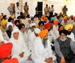 Anandpur Sahib: Punjab CM during the 'Ardas' ceremony at Takht Sri Kesgarh Sahib