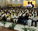 N. Chandrababu Naidu at a party meeting