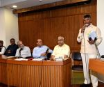 Chandrababu Naidu during a programme