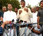 Media briefing - AP CM Chandrababu Naidu, Rahul Gandhi