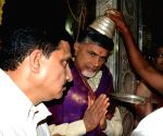 N. Chandrababu Naidu offers prayers at Mahakali Temple