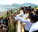 Andhra Pradesh CM inspects the Polavaram project site