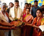 Andhra Pradesh CM visits Durga Mata Temple