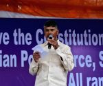 Chandrababu Naidu at Mamata Banerjee's sit-in demonstration