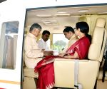 Chandrababu Naidu leaves for Tirupati Balaji Temple