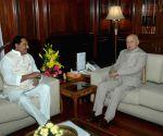 N.Kiran Kumar Reddy called on the Union Home Minister Sushil Kumar Shinde