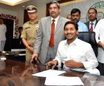 Jagan Reddy occupies CM Office in State Secretariat