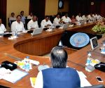 Y.S. Jagan Mohan Reddy chairs the first meeting of Andhra cabinet